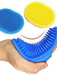 cheap -2 Pcs Dog Grooming Brush, Pet Shampoo Brush Dog Bath Grooming Shedding Brush Soothing Massage Rubber Comb with Adjustable Strap for Short Long Haired Dogs and Cats