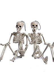 cheap -halloween skull props 60cm skull skeleton simulation human body props realistic hand-made ornaments atmosphere decoration