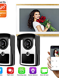 cheap -LITBest Wired & Wireless Photographed / Recording 9.7 inch Hands-free Two to One video doorphone