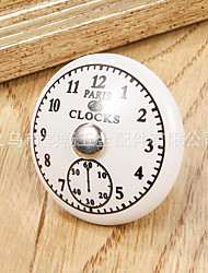 cheap -clock style drawer handle ceramic single hole american furniture handle home improvement hardware handle cabinet button handle