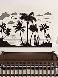 cheap -Fanxi New Creative Wall Paste Black Coconut Forest Pvc Wall Paste Tv Background Wall Manufacturer Wall Paste 60*90cm