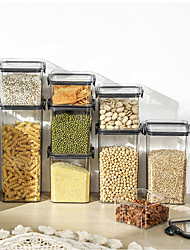 cheap -Transparent Plastic Airtight Cans, Food Grade Moisture-Proof Storage Jars, Fresh-Keeping Boxes, Kitchen Grains And Dried Fruit Storage Jars