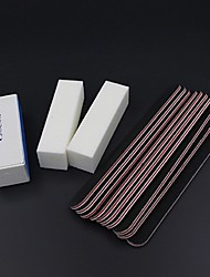 cheap -13 Pcs Professional Nail File Black Sanding File Buffer Salon Nail UV Gel Sanding Nail Polish Sanding Buffer Strips Sandpaper File
