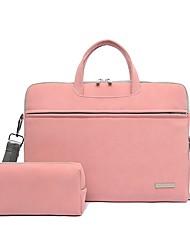 cheap -13.3 Inch Laptop / 15.6 Inch Laptop Shoulder Messenger Bag / Briefcase Handbags PU Leather Solid Color Unisex Shock Proof