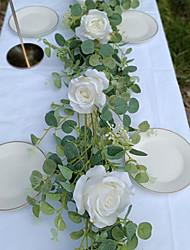cheap -1pc Eucalyptus Rose Vine Wedding Decorations Valentine's Day Decorative Objects Holiday Decorations Party Garden Wedding Decoration 190 cm