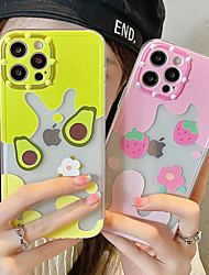 cheap -Phone Case For Apple Back Cover iPhone 12 Pro Max 11 SE 2020 X XR XS Max 8 7 Shockproof Dustproof Food Transparent TPU