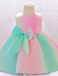 cheap -Ball Gown Floor Length Flower Girl Dresses Wedding Satin Sleeveless V Neck with Sash / Ribbon