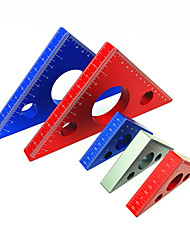 cheap -Aluminum Alloy Square Ruler Carpenter's Triangle Ruler Height Ruler Metric Inch DIY Tool Woodworking Tool