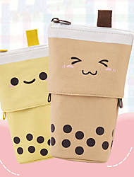 cheap -Pencil  pen  Case box back to school gift Large Capacity Cute Simple Stationery Bag Holder zippe 13*6*17 cm