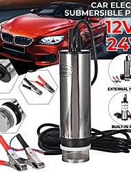cheap -12V/24V Electric Fuel Transfer Pump Electric Diesel Pump Fuel Water Oil Portable Stainless Steel Diesel Pump 12L/min For Car Motorbike