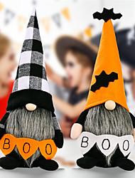 cheap -2pcs Halloween Decoration Rudolph Standing Doll Halloween Decoration Doll 30*8*8 Cm