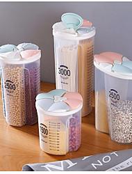 cheap -2000ml Kitchen Storage Tank Sealed Tank Storage Box Compartment Transparent Box Plastic Food Storage Box 2500ml 3000ml