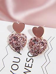 cheap -Women's Earrings Heart Fashion Sweet Heart Romantic Sweet Earrings Jewelry Blushing Pink For Street 1 Pair