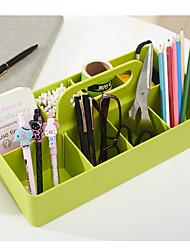 cheap -Plastic Back to school gift Multi-layer Large Capacity Desk Organizer Multi-colored Desktop Storage Box Pen Pencil Holder