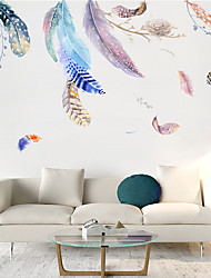 cheap -Feather Nest Sand Wall Stickers Bedroom Living Room Removable Pre-pasted PVC Home Decoration Wall Decal