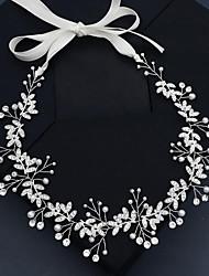 cheap -Retro Sweet Imitation Pearl / Rhinestone / Alloy Headbands / Headpiece / Hair Accessory with Faux Pearl / Crystal / Rhinestone / Split Joint 1 PC Wedding / Party / Evening Headpiece