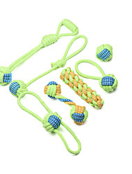 cheap -Pet Dog Toys for Large Small Dogs Toy Interactive Cotton Rope Mini Dog Toys Ball for Dogs Accessories Toothbrush Chew Puppy Toy