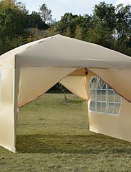cheap -3x3m Two Doors & Two Windows Practical Waterproof Right-Angle Folding Tent Khaki