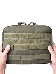 cheap -molle military pouch bag medical emt cover tactical package outdoor camping hunting utility multi-tool kit accessories edc bag (army green)