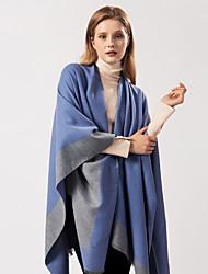 cheap -European and American street ladies scarf autumn and winter all-match air-conditioned room warm dual-use plain tassel shawl cloak wish 130x150CM
