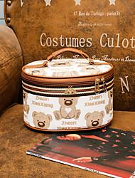cheap -2021 Fashion New Makeup Bag Multi-purpose Portable Cosmetics Storage Bag Mouth Red Bag Business Wash Bag