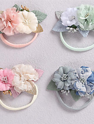 cheap -1pcs Baby Girls' Active / Sweet Daily Wear Floral Floral Style Nylon Hair Accessories Blue / Blushing Pink / Green Kid onesize / Headbands