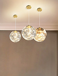cheap -LED Pendant Light 20 cm Globe Design Pendant Light Acrylic Artistic Style Fairytale Theme Globe Gold Electroplated Artistic Nordic Style 220-240V