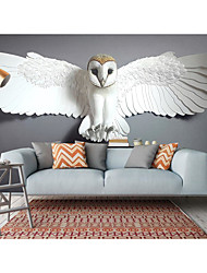 cheap -Mural Wallpaper Wall Sticker Covering Print Peel and Stick Self Adhesive Animal White Cute Owl Faux 3D PVC / Vinyl Home Decor