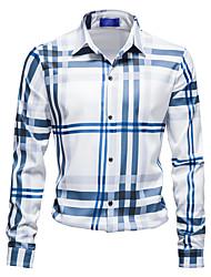 cheap -Men's Shirt Graphic Long Sleeve Casual Tops Chinese Style Fashion Khaki White