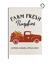 cheap -2021 thanksgiving garden flag autumn pumpkin print flax garden decoration flag nordic outdoor yard flag