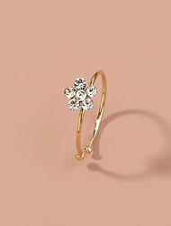cheap -Nose Ring / Nose Stud / Nose Piercing Fashion Holiday Hippie Women's Body Jewelry For Party Evening Street Classic Imitation Diamond Alloy Gold