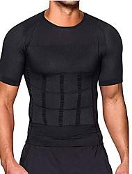 cheap -Men Body Toning T-Shirt Body Shaper Corrective Posture Shirt Slimming Belt Belly Belly Fat Burning Compression Corset