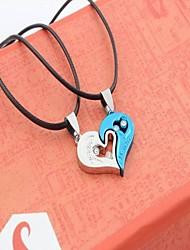 cheap -Men's Necklace Friends Romantic Fashion Vintage European Alloy Blue Black 45 cm Necklace Jewelry 1pc For Street Festival