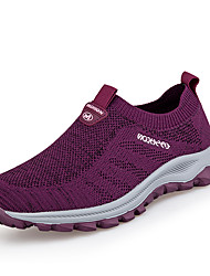 cheap -Women's Trainers Athletic Shoes Flat Heel Round Toe Booties Ankle Boots Daily Outdoor Tissage Volant Solid Colored Wine Purple Black