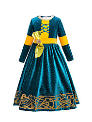 cheap -Princess Melinda Movie / TV Theme Costumes Dress Party Costume Flower Girl Dress Girls' Movie Cosplay Cosplay Costume Party Blue Dress Christmas Halloween Children's Day Polyester