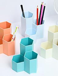 cheap -Dormitory Office Stationery Desktop Storage Creative Pen Holder Student Storage Box Ornaments 11.2*11.2cm