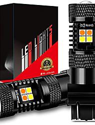 cheap -OTOLAMPARA New Dual Colors Car LED Bulbs 1156 7.5W Spot Beam Focus Lightness Alumium Heat Sink 1157 LED Turn Signal DRL Bulbs 2pcs