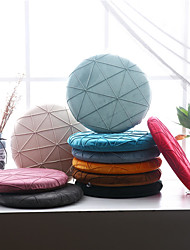 cheap -Floor Pillow Seat Cushion Solid Color Simple Round shape Cushion Plush Warm Chair Cushion Home Office Bedroom Home Use Dining Table Chair Cushion