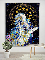 cheap -Mermaid Painting Art Tapestry Art Deco Blanket Curtain Hanging Home Bedroom Living Room Decoration