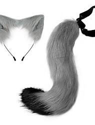 cheap -Halloween Party Imitation Fox Tail Hair Hoop Plush Adjustable Ear Cosplay Prom Dress