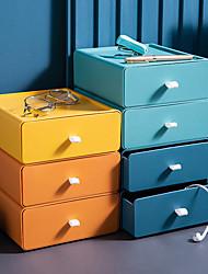 cheap -Desktop Storage Box Multi-Layer Drawer Offic  Cosmetics Shelf Student Dormitory Desk Organizing Box 20*19*8cm