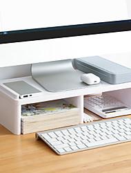 cheap -Plastic Back to school gift Multi-layer Large Capacity Desk Organizer Desktop Storage Box Pen Pencil Holder White Grey