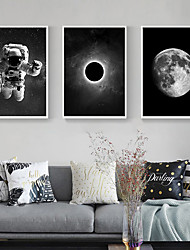 cheap -Wall Art Canvas Prints Painting Artwork Picture People Moon landing Home Decoration Decor Rolled Canvas No Frame Unframed Unstretched