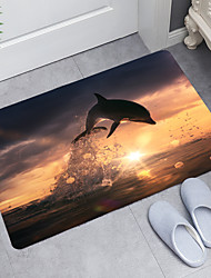cheap -Dolphin Series Digital Printing Floor Mat Modern Bath Mats Nonwoven / Memory Foam Novelty Bathroom