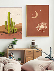 cheap -Wall Art Canvas Prints Painting Artwork Picture Abstract Landscape Moon Sun Home Decoration Decor Rolled Canvas No Frame Unframed Unstretched