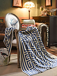 cheap -Nordic style Pure cotton sofa blanket cover blanket office siesta shawl blanket knitted wool blanket leisure air conditioning blanket