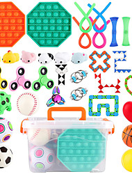 cheap -36 PCS Stress Relief Set Sensory Fidget Toys Set Hand Toys for Adults Kids ADHD ADD Anxiety Autism Birthday Party Favors Classroom Prize Goodie Bag Fillers