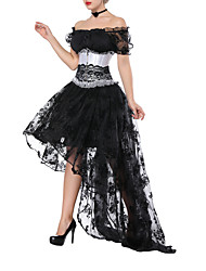 cheap -Corset Women's Bustiers Corsets Sexy Sweet Corset Dresses Tummy Control Push Up Fashion Lace Pure Color Hook & Eye Lace Up Polyester Christmas Halloween Wedding Party Birthday Party Spring, Fall