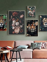 cheap -Wall Art Canvas Prints Painting Artwork Picture Wild Plant Floral Animal Home Decoration Decor Rolled Canvas No Frame Unframed Unstretched