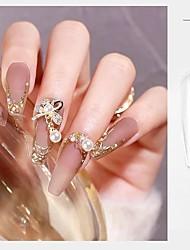 cheap -100 Pcs/Set Transparent Color Fake Nail Accessories for Manicure Fashion False Nails Tips for Extension